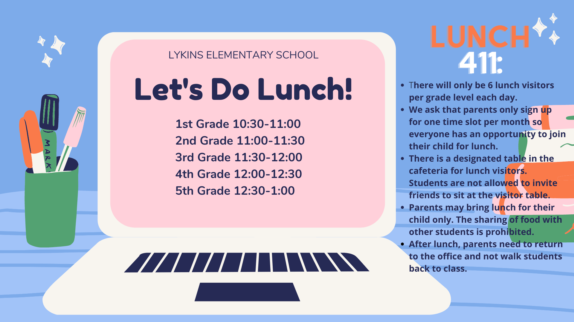 Lykins Let's Do Lunch – The 411 on Lunch with your Student
